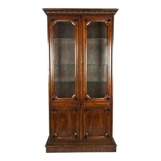 Vintage Study Room or Bookcase Vitrine Display Cabinet For Sale