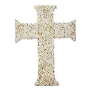 Decorative Rose Shell Wall Cross