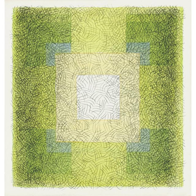"""2010s Scribble Series """"Square 7"""" Watercolor Painting For Sale - Image 5 of 5"""
