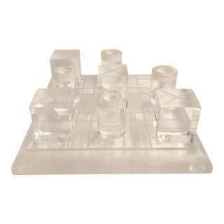Lucite Tic Tac Toe Table Game For Sale