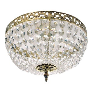 Bathroom Chandelier - Polished Brass Plafond Chandelier For Sale