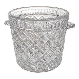 Glass Diamond Pattern Ice Bucket For Sale