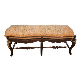 Pierre Deux Rush Bench With Cushion For Sale