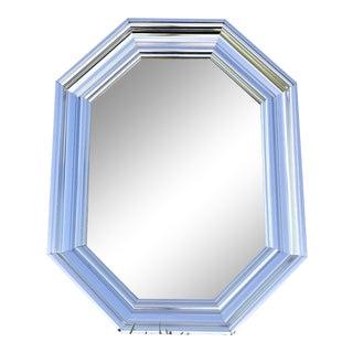"1970's Greg Copeland C Gere Era Mid Century Modern Bullnose Silver Mirror 42"" For Sale"