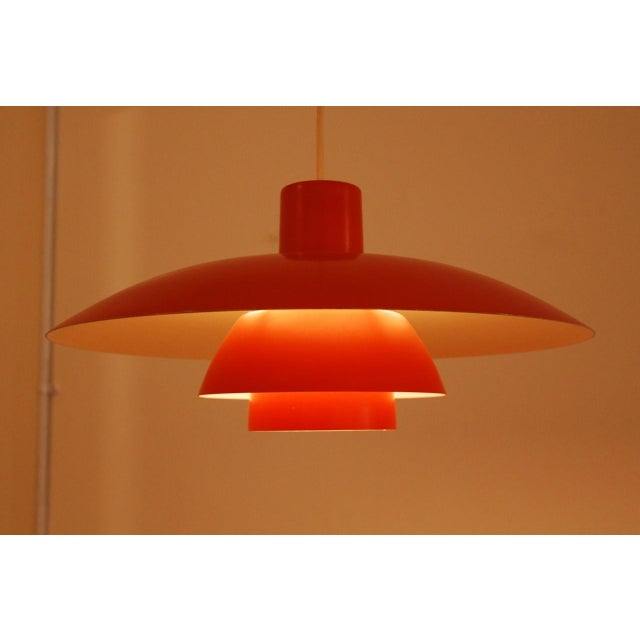 Aluminum Orange PH 4/3 hanging lamp by Poul Henningsen for Louis Poulsen For Sale - Image 7 of 7