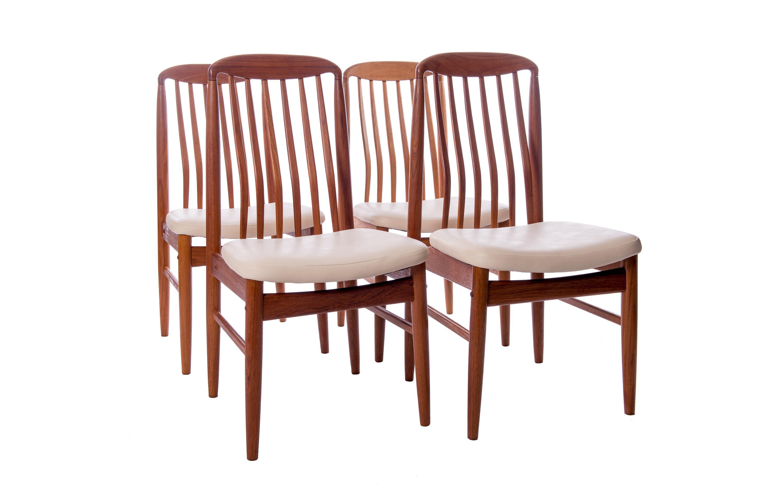 ... Linden Teak Furniture #43   Danish Designer Benny Linden Teak Dining  Chairs   Set Of