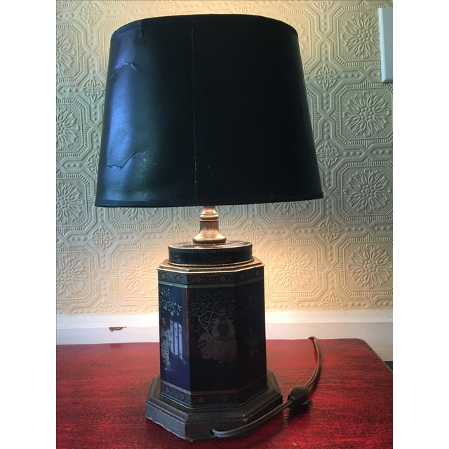 Early English Tea Canister Lamp For Sale - Image 4 of 6