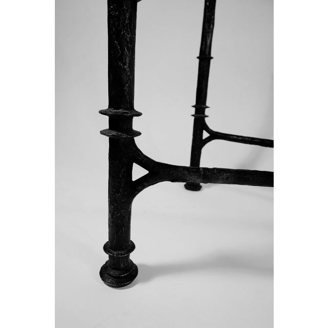 Brutalist Giacometti Style Wrought Iron Console Table For Sale - Image 3 of 8