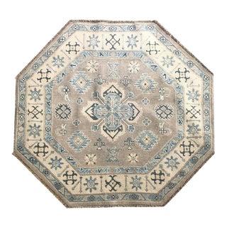 Octagonal Kazak Rug - 3′9″ × 4′4″ For Sale