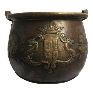 18th Century Antique Copper Cauldron For Sale
