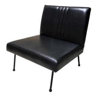 Modern Sabin Gaviota Black Slipper Chair For Sale