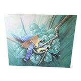 Image of Vintage Palm Beach Regency Parrot Painting For Sale