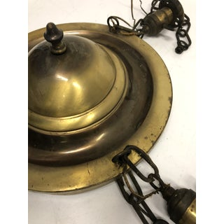 Antique Burnished Gold Pressed Tin Flush Mount Light Fixture Preview