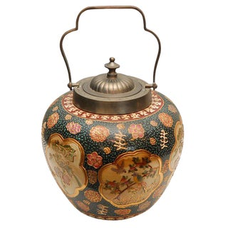 Satsuma Biscuit Barrel With Lid For Sale
