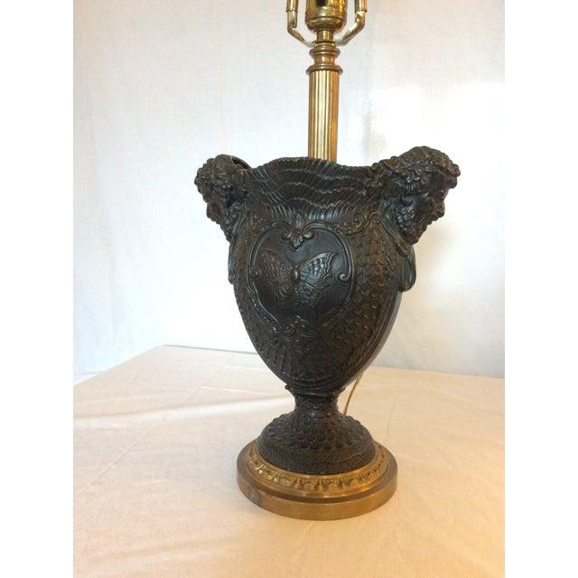 Basalt Urn Modified Custom Lamp For Sale - Image 9 of 13