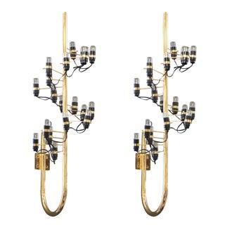 Gino Sarfatti Brass Sconces - Pair For Sale