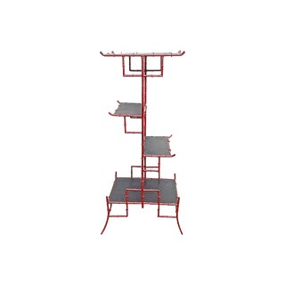 20th Century Chinoiserie Style Iron Étagère For Sale