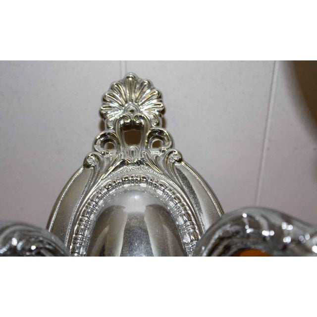 Mid 20th Century Plaza Hotel New York Nickel Over Brass Sconce For Sale - Image 5 of 6