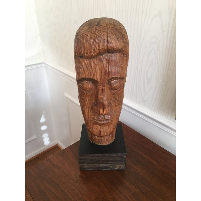 Wood Carved Statue - Image 2 of 6