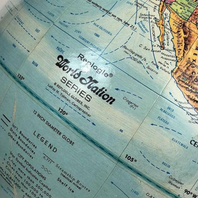 Blue Vintage Replogle World Nations Series Globe For Sale - Image 8 of 11