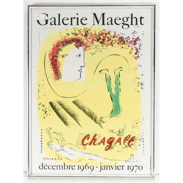 Marc Chagall Vintage Exhibition Poster 1969 1970 Galerie Maeght Mourlot For Sale In New York - Image 6 of 6