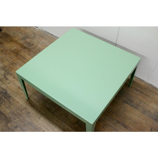 Mid-Century Modern 1950s Mint Green Mid-Century Powder Coated Steel Coffee Table For Sale - Image 3 of 13