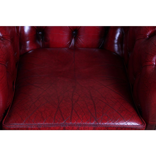 English Traditional English Leather Club Chairs - a Pair For Sale - Image 3 of 9