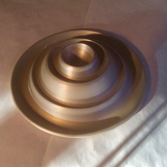 Metal Russel Wright Spun Aluminum Serving Pieces - Set of 18 For Sale - Image 7 of 11