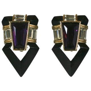 Angela Kramer Enamel Earrings For Sale