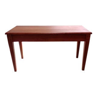 Shaker Style Cherry Piano Bench With Music Storage For Sale