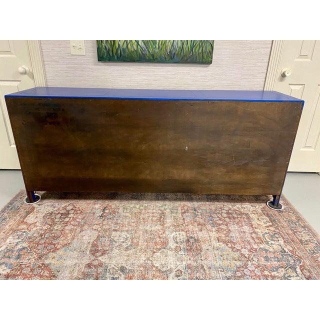 Cobalt Nine Drawer Dresser For Sale - Image 9 of 11