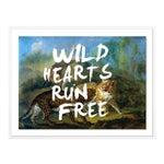 Wild Hearts Run Free by Lara Fowler in White Framed Paper, Small Art Print