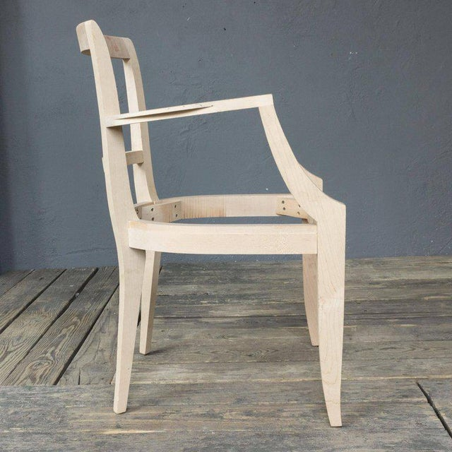 Art Deco Chair Frame for a Reproduction 1940s Style Armchair For Sale - Image 3 of 7