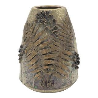 Antique Stellmacher Teplitz Austrian Amphora Art Nouveau Fern Vase For Sale