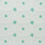 Schumacher x Molly Mahon Spot & Star Wallpaper in Seaglass