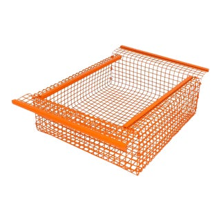 Orange Industrial Wire Fruit Basket