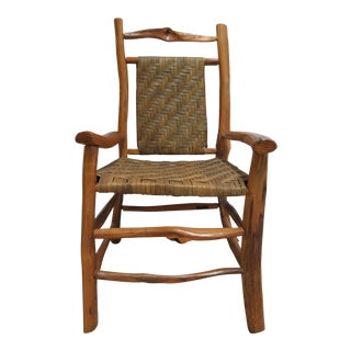 1980s Vintage Hand Made Claude Kellams Adirondacks Live Edge Tree Branch Arm Chair For Sale