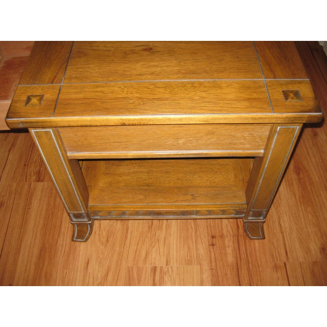 Vintage Rustic Style End Table For Sale In Boston - Image 6 of 10