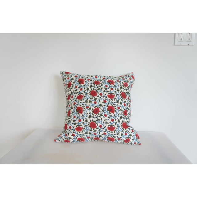 Indian Block Print Euro Pillow - Image 2 of 4