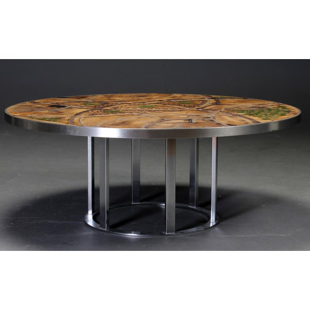 Mid-Century Modern Round coffee table by Lilly Just Lichtenberg For Sale - Image 3 of 7