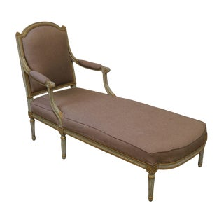 French Louis XVI Period Antique 18th-19th Century Painted Chaise Lounge For Sale