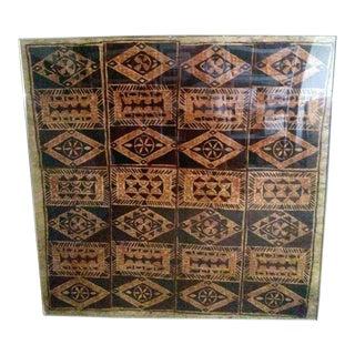 1930s African Batik Art Tree Bark Painting For Sale