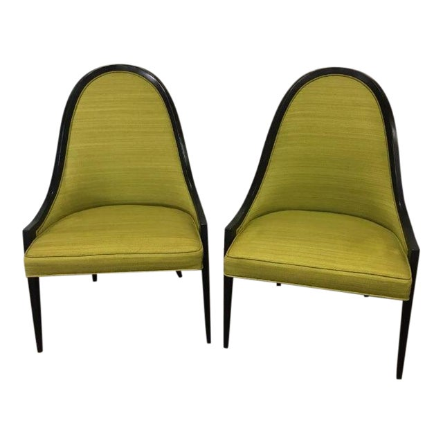 """Vintage Mid Century Harvey Probber """"Gondola"""" Chairs - A Pair For Sale"""