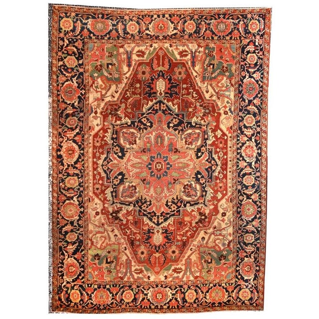 Traditional Late 18th Century Antique Persian Rug-9′11″ × 12′10″ For Sale - Image 3 of 3