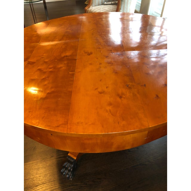 Late 19th Century Antique Biedermeier Round Center Table For Sale - Image 5 of 13