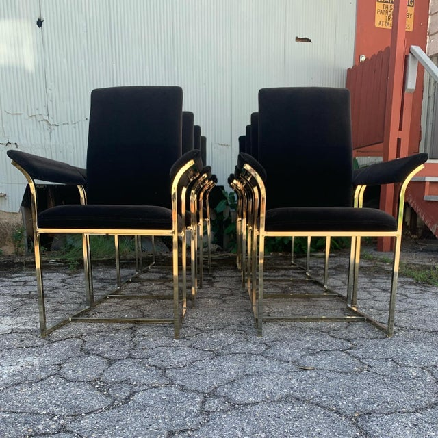Mid-Century Modern Milo Baughman Style Dining Chairs- Set of 8 For Sale - Image 3 of 10