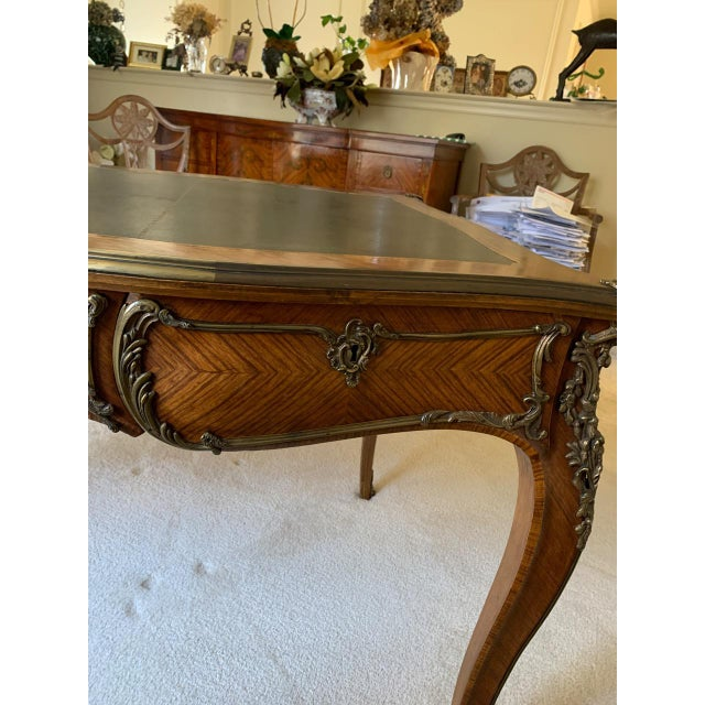 Louis XV Style Kingwood Veneer and Brass Mounted Writing Desk For Sale - Image 4 of 12