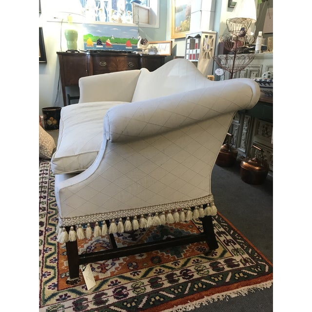 Federal Camelback Mahogany Loveseat For Sale In Boston - Image 6 of 8