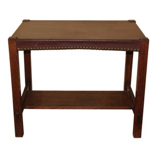 1920s Gustav Stickley Arts & Crafts Library Table For Sale