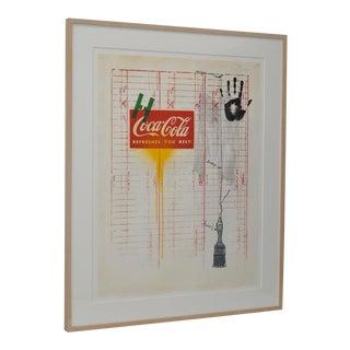 """Jasper Johns (American, B.1930) """"Coca Cola"""" Lithograph C.1971 For Sale"""